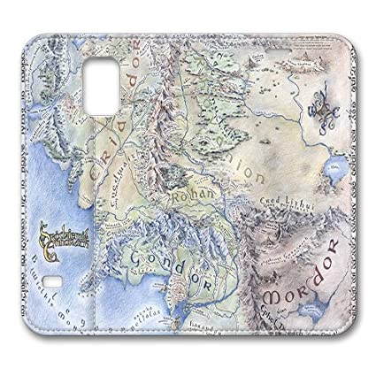 Amazon Com Interactive Map Of Middle Earth Smart Cover Case For S5