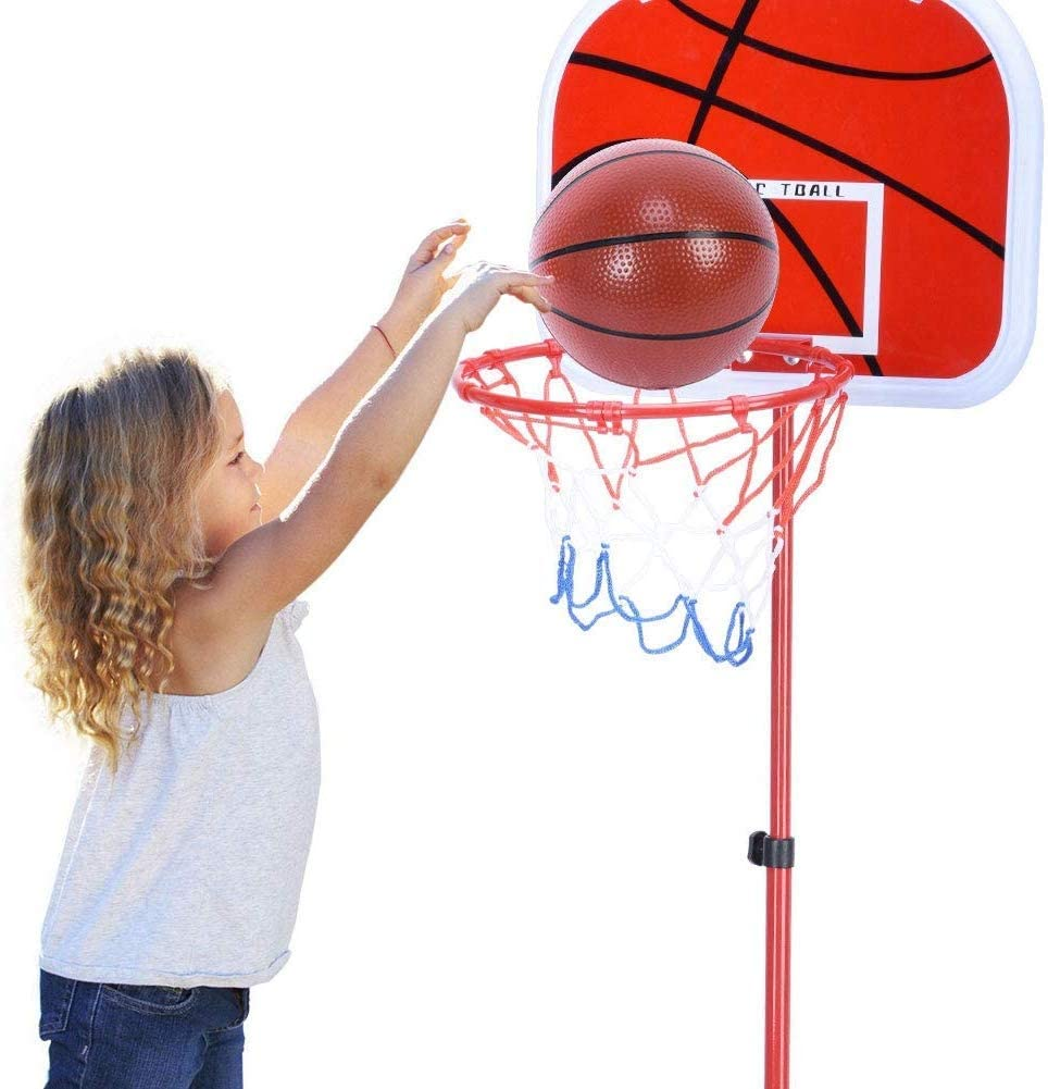 Juego de Canasta de Baloncesto Ajustable para Altura de 90 a 150 cm Lonnsaffe