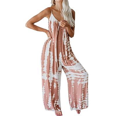 ACHIOOWA Pantalones de Peto para Mujer Baggy Pantalón Jumpsuit de Color Tirantes Largo Harem Talla Grande Casual Moda Fiesta C58909-03 XL: Ropa y accesorios