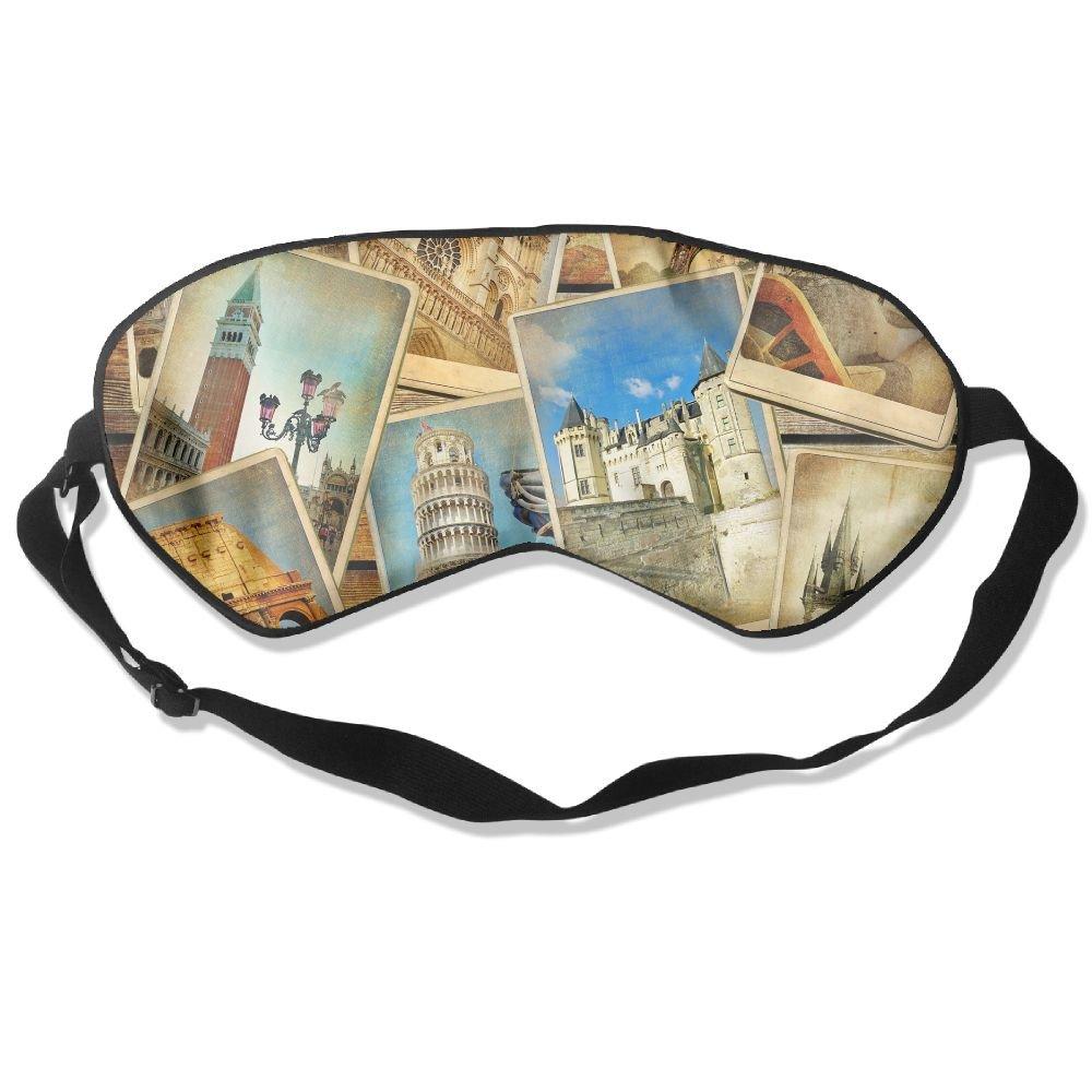 Sleep Mask Travel Wallpaper Eye Cover Blackout Eye Masks,Soothing Puffy Eyes,Dark Circles,Stress,Breathable Blindfold
