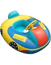 QHYK Inflable Niño Bebé Natación Asiento, Coche de patrón del, Float Boat Anillo Raft