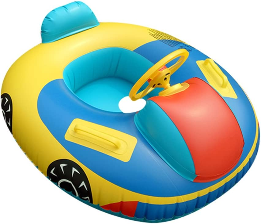 TURNMEON Baby Swimming Pool Float Safety Seat Swim Ring for Infant Toddlers Swimming Pool Floats Baby Pool Ring Inflatable Watermelon Baby Floatie with Skin-Friendly PVC 8-36 Months