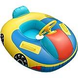 QHYK Inflable Niños Natación Círculo, Car Model natación Circle, Float Boat Anillo Raft Silla Piscina Juguete, Espesar…