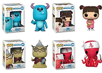 FunkoPOP Monsters Inc: Sulley + Boo + Roz + Chef - Stylized ...