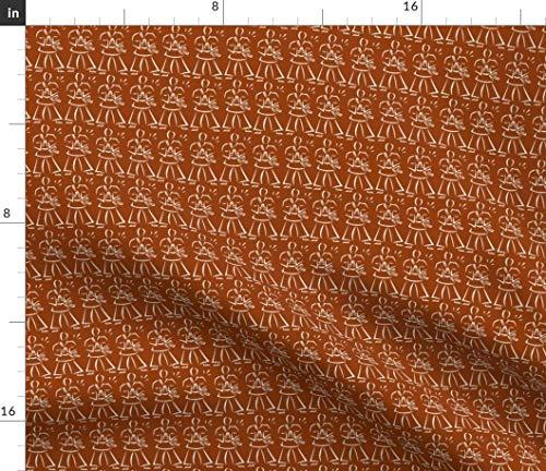 Printed Karate - Taekwondo Fabric - Karate Korea Sports Judo Martial Arts by Dsa Designs Printed on Petal Signature Cotton Fabric by The Yard