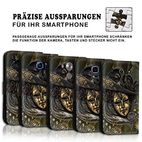 Wallet Book Style Flip Handy Tasche Case Schutz Hülle Schale Motiv Etui für Apple iPhone 6 / 6S - Design Flip MV131