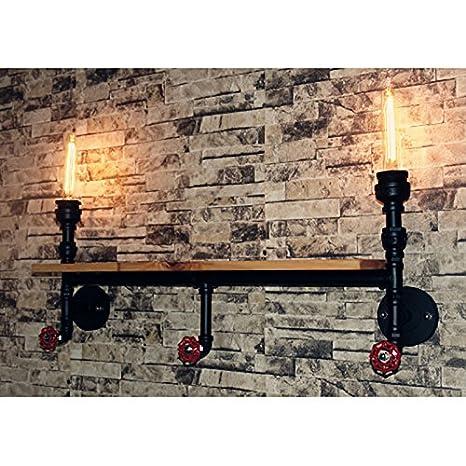 YU-K Edison de antigüedades de estilo industrial de pared de luz del aire industrial