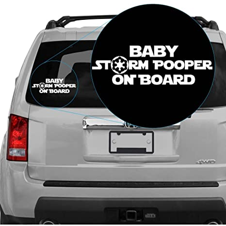 Amazon.com: yoonek Graphics bebé Storm Pooper on board ...
