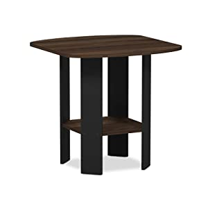 Furinno 11180CWN Simple Design End/Side Table 1, Columbia Walnut/Black