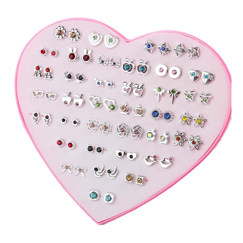 36 paires de boucles d'oreilles hypoallergénique ensemble parti faveur pour les femmes filles enfants cadeau de Noël, # 15