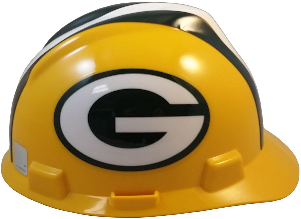 MSA NFL Ratchet Suspension Hardhats - Green Bay Packers Hard Hats by MSA (Image #4)