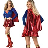 49% OFF / Superwoman Supergirl Superman cloak with Halloween Halloween Halloween Cosplay Costume dew Vienna Disney witch witch pumpkin angel fancy dress adult costume ribbon (japan import)