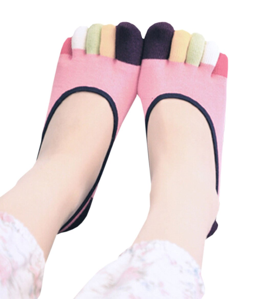 Panda Superstore [ Candy Womens Mood ] Low Cut Five Toes Socks 5本指アンクルソックス1ペア   B07BWSBD8Z