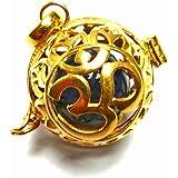 【バリ島より無料で郵送】【大特価】 [K24RGP]バリ島の神様「OM(オーム)」のオープンタイプの純金コーティングのゴールドGOLDペンダント(ソーダライト)