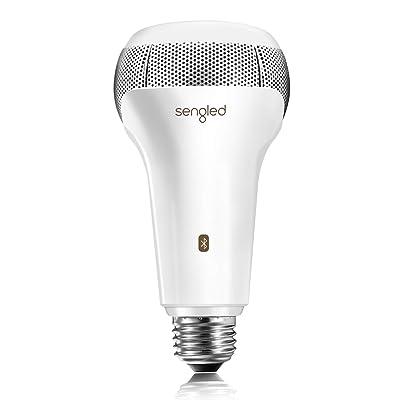 Sengled Solo Bluetooth JBL Speaker Light Bulb Dual Channel Dimmable LED Light Bulb App Controlled 45W Equivalent E26 Smart Timing Music Bulb