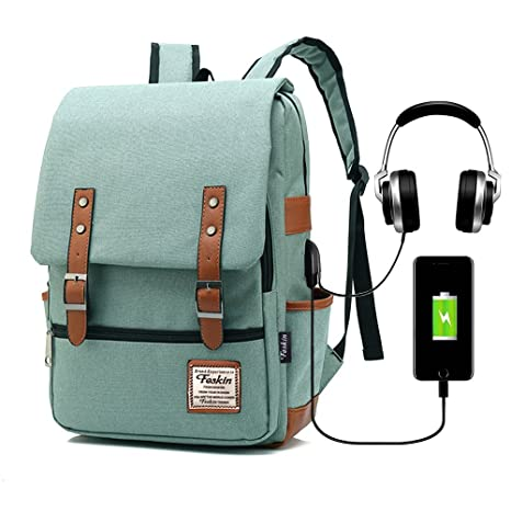d0a16959b0d Amazon.com  Vintage Laptop Backpack Women Men