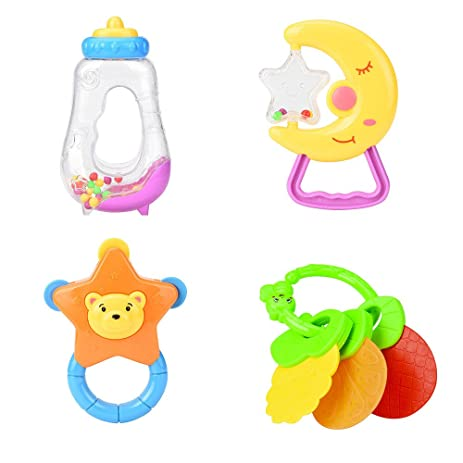 Tumama Soft Rattle Baby Toys Suitable For Newborn 4 Pcs