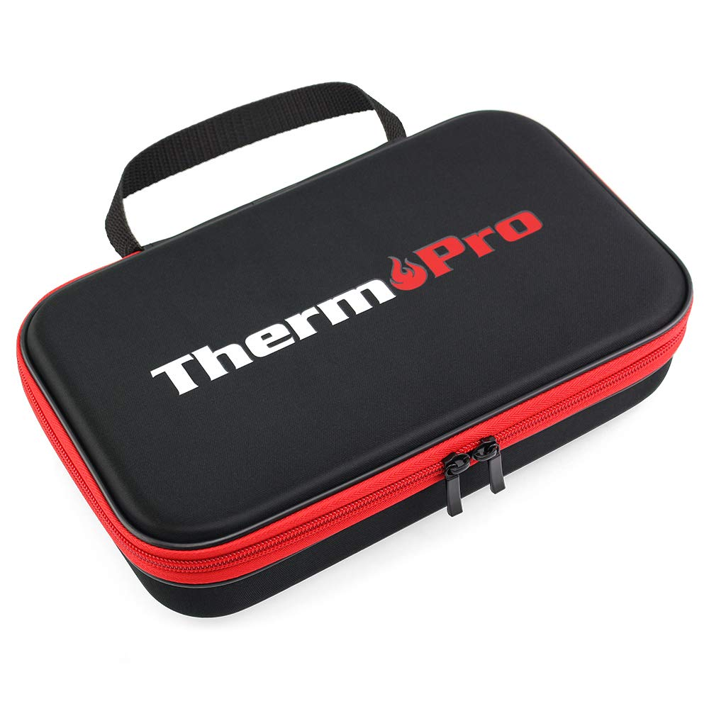 ThermoPro TP99 Hard Carrying Case Storage Bag for TP-20, TP-08S, TP-07 Wireless Remote Digital Cooking Food Meat Thermometer, Shockproof Waterproof Black Travel Protective Case/Box/Organizer by ThermoPro