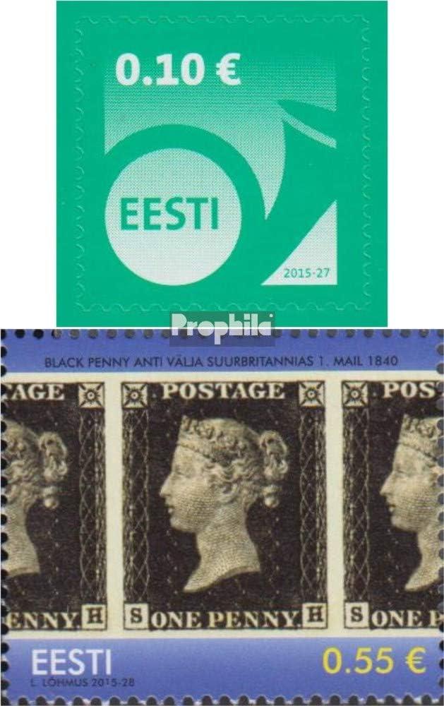 Prophila Collection Estonia Michel.-No..: 840,841 (Completa.edición.) 2015 Corneta de Posta, filatelia (Sellos para los coleccionistas) Sello en Sello: Amazon.es: Juguetes y juegos