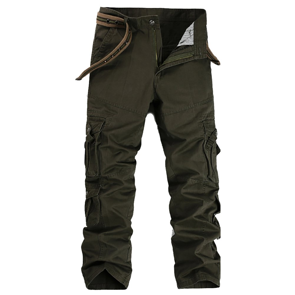 para Hombres con 8 Bolsillos Pantalones de Trabajo de Combate Pantalones de Trabajo Pantalones de Trabajo Allthemen Pantal/ón Cargo Regular