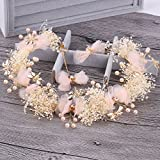 handmade bridal wedding party hair accessories lace headdress tiara diadem crown flaxen hair hair coil twist sweet wedding vintage hairpin bridal jewelry (meat butterflies fly yarn dance headdress ear