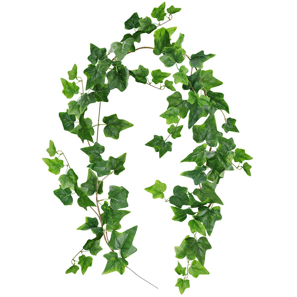 Supla 5.7 Feet Artificial Hanging Ivy Leaves Vines Twigs Fake Ivy Plant Leaves Garlands String in Green for Indoor/Outdoor Wedding Decor Jungle Party Supplies Greenery Crowns Wreath