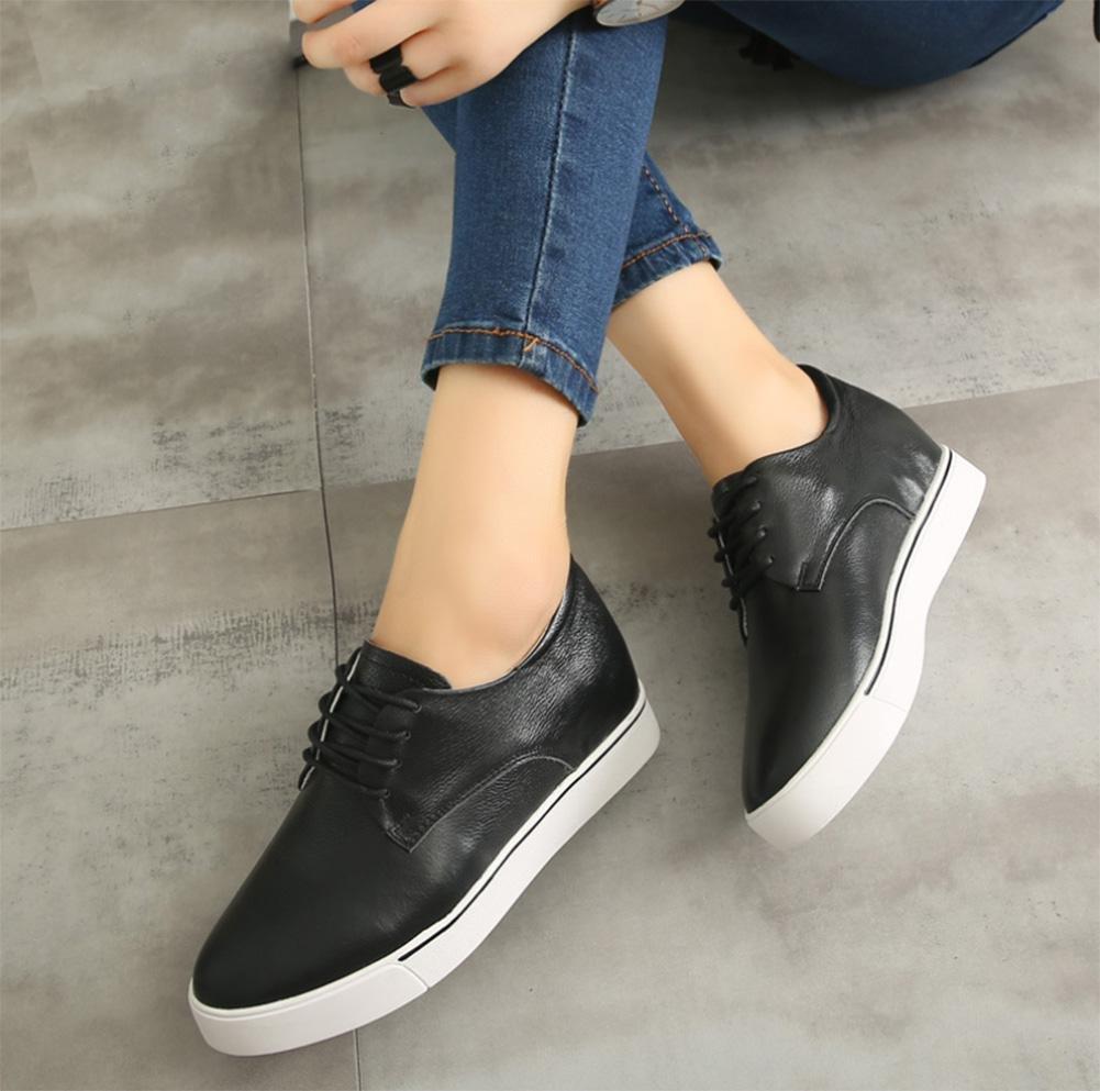 e62d1688455 La Sra primavera y otoño Sra zapatos zapatos del elevador del cordón de  zapatos