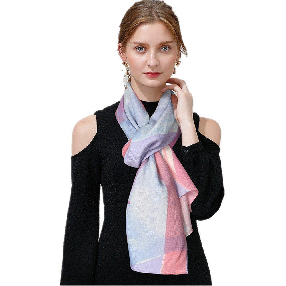 Women's Fashion Luxury Pure Wool Winter Scarves Printing Wraps Long Stole Shawl(190cmx60cm),2#
