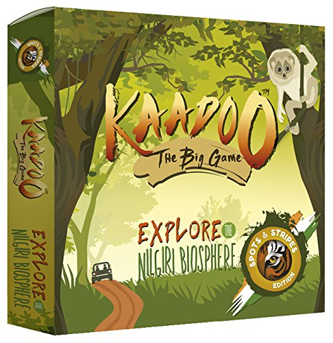 Kaadoo Board Game - Nilgiris Biosphere-Spots & Stripes Edition-Your safari on the go! Bring the wild indoors.Learn about exotic Indian wildlife.A Parents' Choice award winning board game