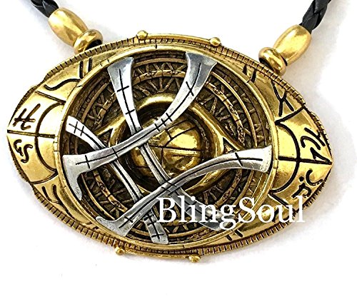 [NEW Doctor Strange Amulet Eye Of Agamotto Necklace (Large)] (Cheap Roman Costumes)