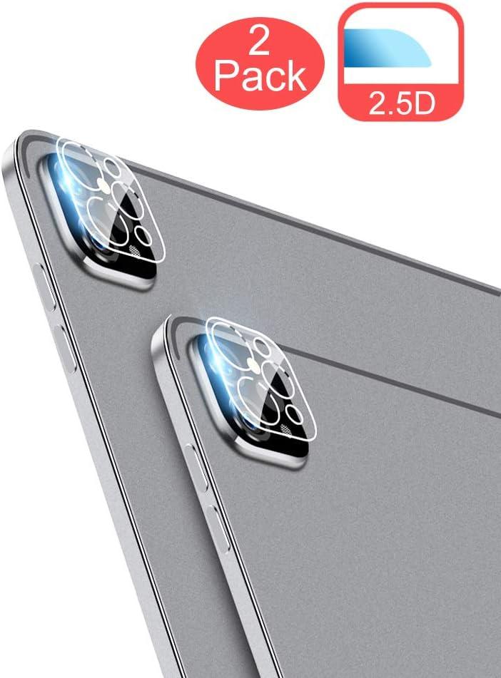 KumWum Película Protectora de Lente de Cámara para iPad Pro 2020 11/12.9 Pulgadas con Arco de Cobertura Completa
