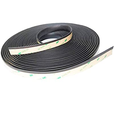 Thlevel 5M/16FT Auto Seal Weather Stripping Rubber Sealing Strip Trim Cover for Car Front Rear Windshield: Home Improvement