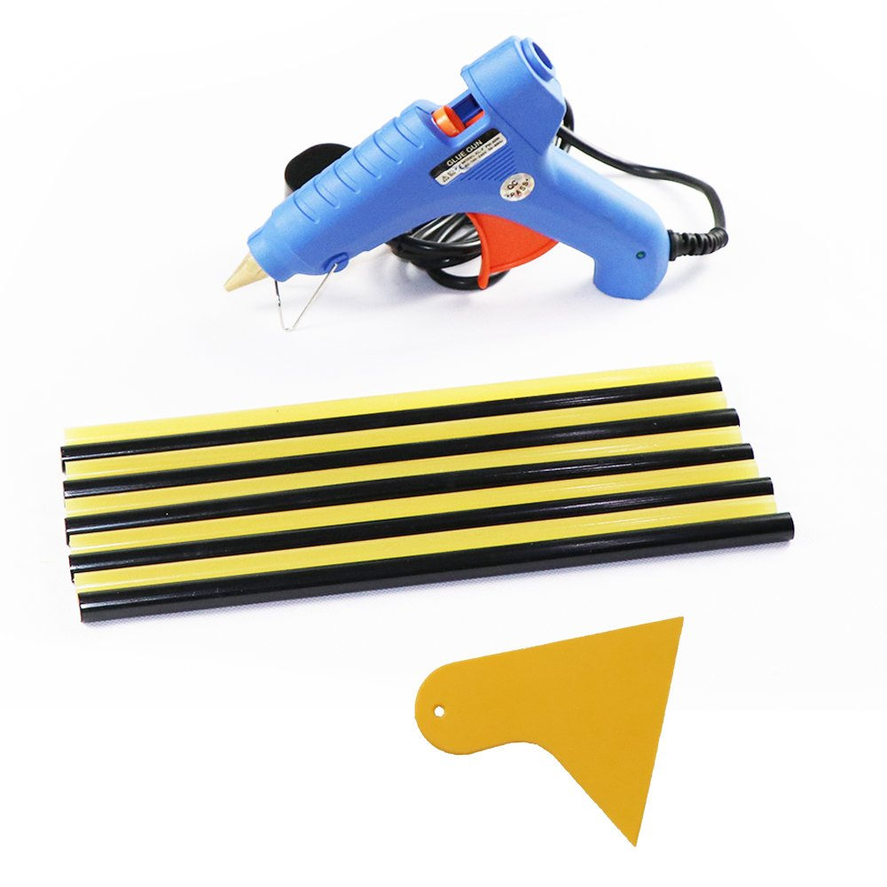 JMgist PDR Tools Blue 40W Hot Melt Glue Gun with 10pcs 270 x 11 mm Glue Sticks High Temperature Melting Glue Gun Kit for DIY Quick Repairs