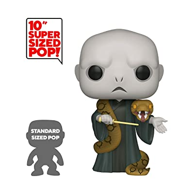 "Funko Pop! Harry Potter: Harry Potter- 10"" Voldemort with Nagini, Multicolor, Model:48037: Toys & Games"