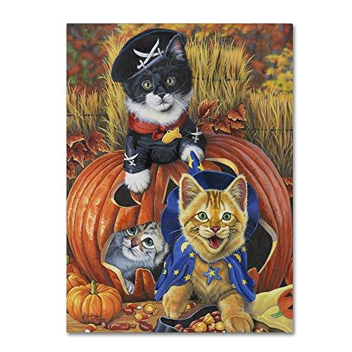 Halloween Kittens by Jenny Newland, 18x24-Inch Canvas Wall Art]()