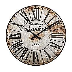 Imax Farmers Market Oversized Wall Clock
