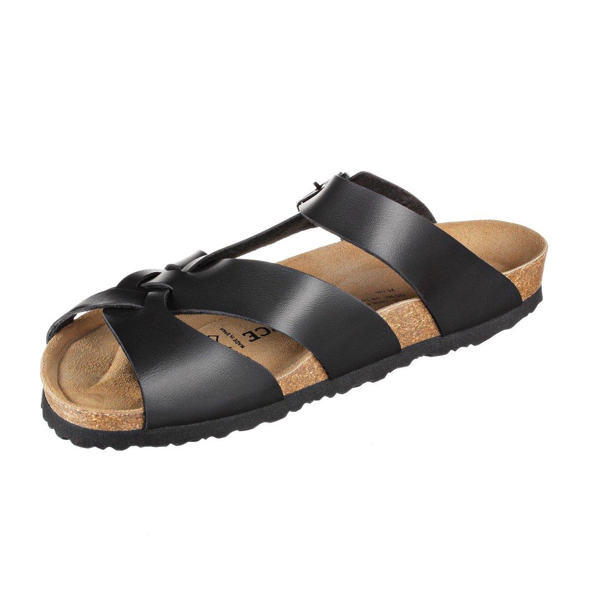JOE N JOYCE Womens Athen SynSoft Soft-Footbed Synthetic Mules Regular Black Size EU 39 - US W8/M6