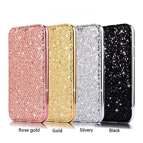 Vandot Accesorio 3D Rhinestone perla PU Phone Case Cover Para iPhone 6 Plus 5.5 pulgadas Funda cubierta de la caja Case Bling Book Wallet Diamond cubierta de cuero del brillo Shell Teléfono Práctica F CFPiT-1