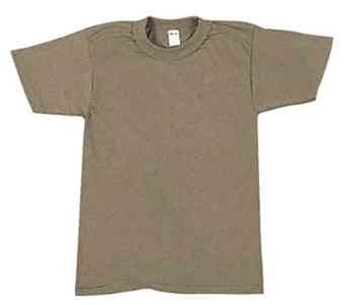 Amazon.com  7848 100% Cotton T-Shirt Brown (Small)  Military Apparel ... 13222e1da