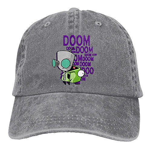 Zims Head - Unisex Invader Zim Gir's Doom Free Headgear Ash