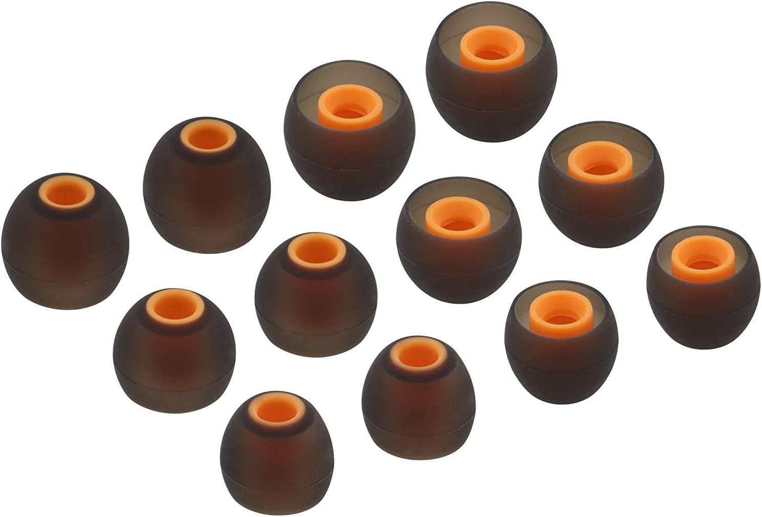 ALXCD Ear Tips for JBL Lifestyle Tune 110BT in-Ear Headphones 6 Pairs S M L Sizes Replacement Silicone Earbud Tips Fit for JBL 110BT,Black//Orange