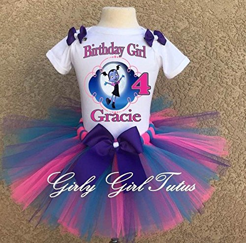 Vampirina Girls Birthday Outfit Tutu Outfit Dress Set