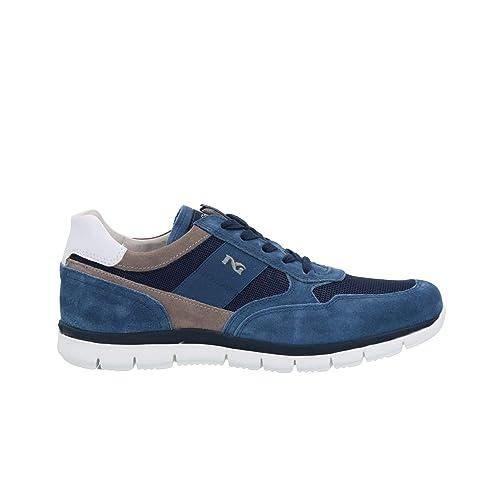 2be503f1c0f2 Nero Giardini Sneakers Blu Scarpe Uomo P900840U: Amazon.it: Scarpe e borse