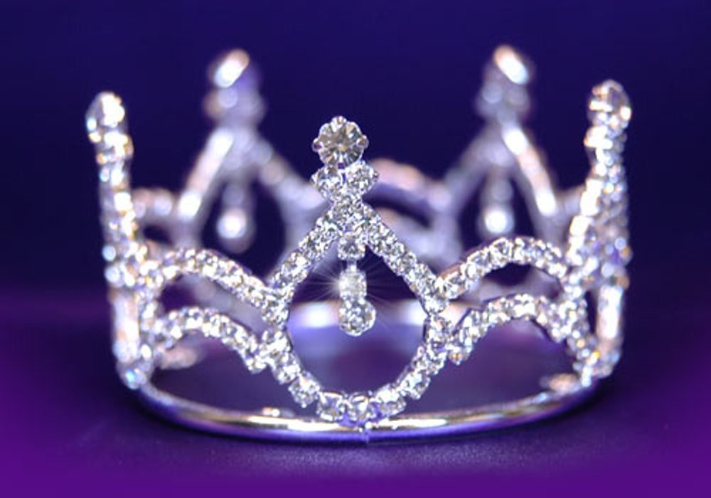 Exquisite Rhinestones Crystal Photo Prop Baby Tiara Crown for Newborn baby