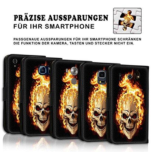 Wallet Book Style Flip Handy Tasche Case Schutz Hülle Schale Motiv Etui für Apple iPhone 6 / 6S - Design Flip MVD383