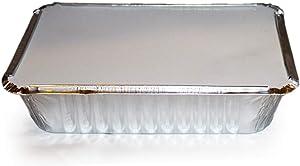 TigerChef Aluminum Tin Foil Pans Disposable Freezer to Oven Safe Aluminum Foil Pans (15, 2.25 Lb with Board Lids)