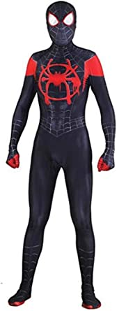 Unisex Spandex Halloween New into The Spider Verse Miles Morales Cosplay Costumes Adult/Kids 3D Style