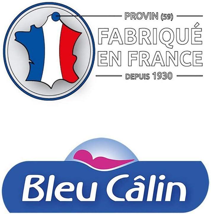 Blanc Bleu C/âlin Prot/ège Matelas Imperm/éable Anti-Acariens Forme Drap Housse PMTH 60x120 cm
