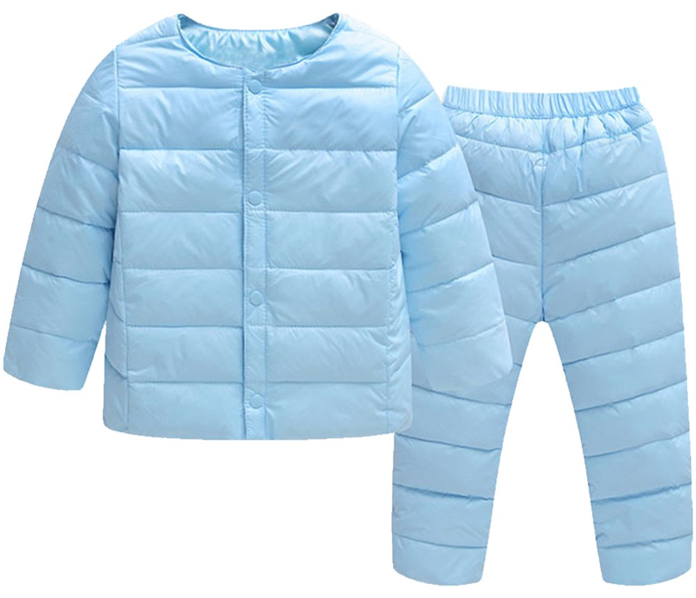 KISBINI Toddlers Little Girls Boys Down Puffer Jacket and Panties Set Snowsuit