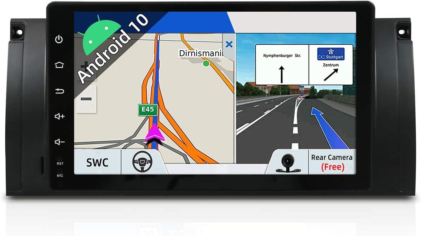 Autoradio Android 9 Car Radio GPS Navegación Compatible para 5 E39   M5  Canbus Cámara trasera  1 DIN 9 pulgada 2G+32G  Pantalla LCD Táctil  SD  USB DAB+ Soporte  3G/4G  WLAN  Bluetooth  MirrorLink